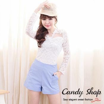Candy小舖 春季可愛甜美素色百搭短褲(預購+現貨) 3色選