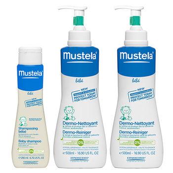 Mustela 慕之恬廊寶寶溫和洗沐組 (多慕雙潔乳x2+溫和潔髮露)