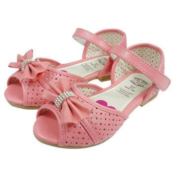 布布童鞋 蝴蝶結鑽石粉色公主鞋 [OF1828G]