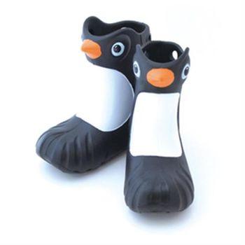 Polliwalks童鞋-Penguin 黑企鵝-兒童兩用靴