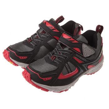 布布童鞋 日本GXR酷炫黑紅競速運動鞋 [OC1D91D] 黑色款