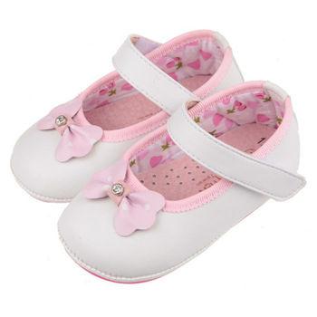 布布童鞋 典雅小蝴蝶結純白淑女寶寶鞋 [OA6557M ] 白色款