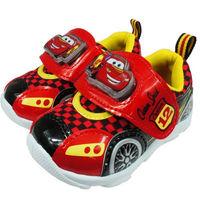 布布童鞋 Disney迪士尼Cars汽車總動員閃電麥坤車型電燈 鞋 ^#91 MN9002