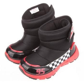 布布童鞋 Disney迪士尼Cars汽車總動員閃電麥坤黑色保暖雪靴 [ML6606D ] 黑色款