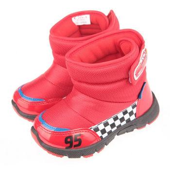 布布童鞋 Disney迪士尼Cars汽車總動員閃電麥坤紅色保暖雪靴 [ML5606A ] 紅色款