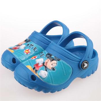 布布童鞋 Disney迪士尼米奇米老鼠藍色室內拖鞋布希鞋 [MI7903B ] 藍色款