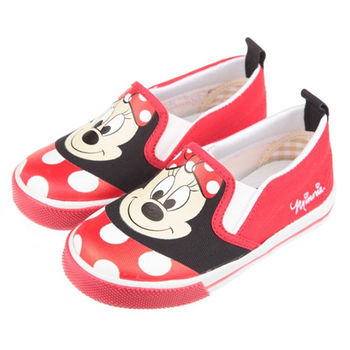 布布童鞋 Disney迪士尼米妮米老鼠活潑休閒紅色帆布室內 [MD7610A ] 紅色款