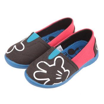 布布童鞋 Disney迪士尼米奇米老鼠經典黑色帆布室內休閒鞋 [MD6605D ]