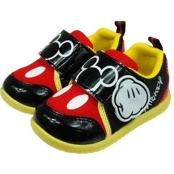 布布童鞋 Disney迪士尼米奇米老鼠紅黑色手套點點休閒鞋 [MD5001K ]