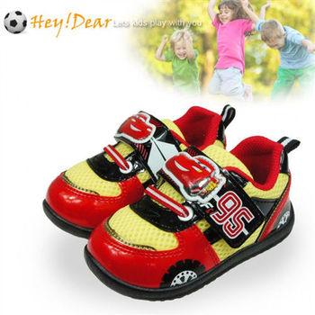 布布童鞋 Disney迪士尼Cars汽車總動員閃電麥坤跑車95紅色運動鞋 [MC6004A ] 紅色款