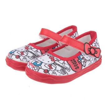 布布童鞋 HelloKitty凱蒂貓繽紛潮流紅色娃娃公主室內鞋 [ CD7807A] 紅色款