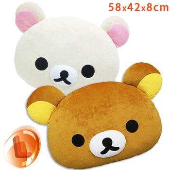 Rilakkuma 拉拉熊 牛奶熊 大頭大臉造型抱枕/靠枕 (尺寸L)