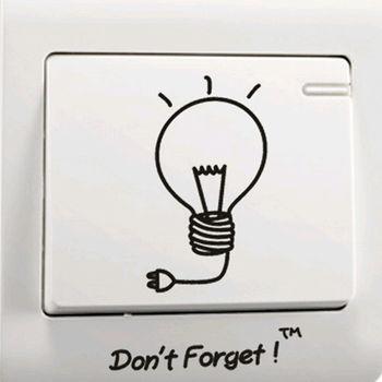 窩自在★DIY無痕創意牆貼/隨意貼-隨手關燈開關貼