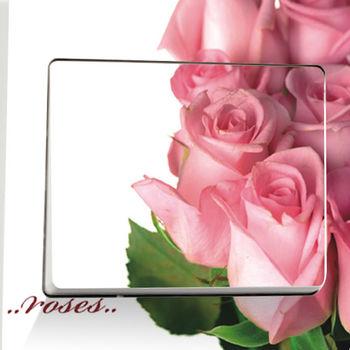 窩自在★DIY無痕創意牆貼/隨意貼-玫瑰花開關貼