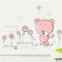窩自在~DIY無痕 牆貼 壁貼~愛的熊熊_AY7017 50X70