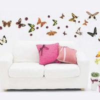 窩自在~DIY無痕 牆貼 #47 壁貼 #45 彩色蝴蝶 #95 JM8142 #40 5
