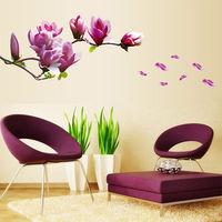 窩自在~DIY無痕 牆貼 壁貼~紫色玉蘭_AY7105 50X70
