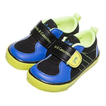 布布童鞋 Roberta諾貝達雙色藍黑帆布休閒鞋 [ CD3765D] 黑色款
