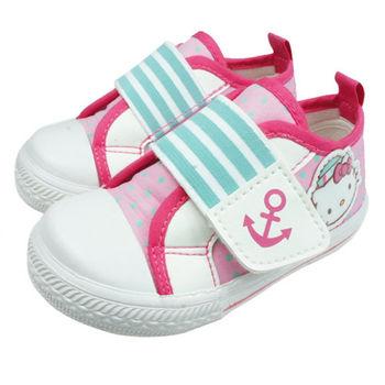 布布童鞋 HelloKitty凱蒂貓粉紅點點水手造型帆布鞋 [CD1716G ] 粉紅款