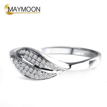 MAYMOON  18K白金情緣天然鑽石0.10ct戒指
