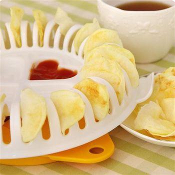 【ZARATA】DIY微波爐烤薯片器(含切片器)DIY燒烤籃