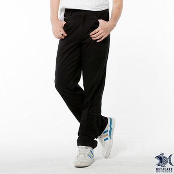 【NST Jeans】390(5326) 黑直紋龍舞圖騰休閒長褲(中腰)