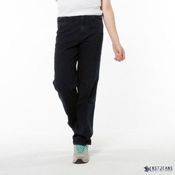 【NST Jeans】390(5311) 深藍白直紋薄彈牛仔長褲(中腰)刷洗 個性 復古