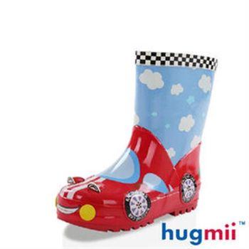 【hugmii】童趣造型兒童橡膠雨鞋_賽車
