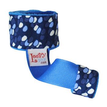 美國Loopy Gear寶寶抓緊緊 安撫玩具手腕帶-湛藍汽球飛