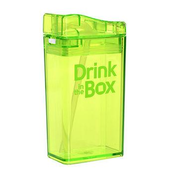 【Drink in the box】Tritan兒童運動吸管杯-果凍綠