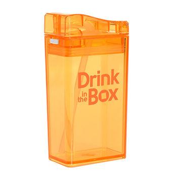 【Drink in the box】Tritan兒童運動吸管杯-果凍橘