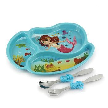 【KIDSFUNWARES】造型兒童餐盤組-小美人魚