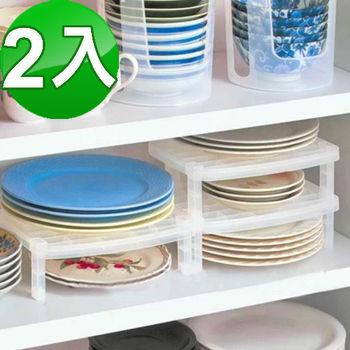 日式抗菌碗盤架/置物架(2入)