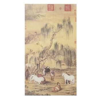 【國立故宮博物院】複製 掛軸-郎世寧 八駿圖
