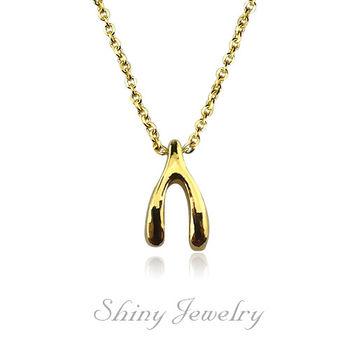 【炫麗珠寶】許願骨黃金套鍊