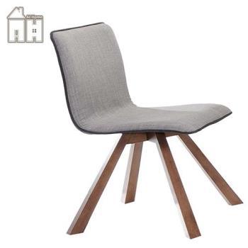 【AT HOME】卡洛斯胡桃布餐椅