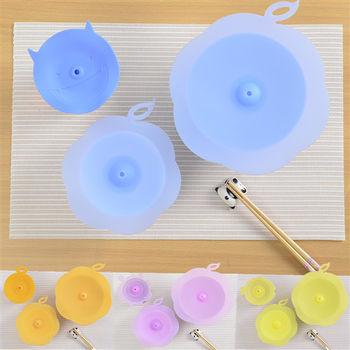日本MAKINOU 專利食品級矽膠環保密封保鮮蓋6件組(4色)-贈環保杯墊