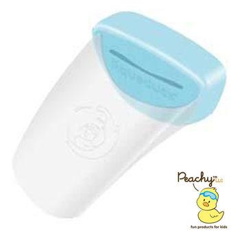Aqueduck幼兒專用水龍頭延伸輔助器-透明藍