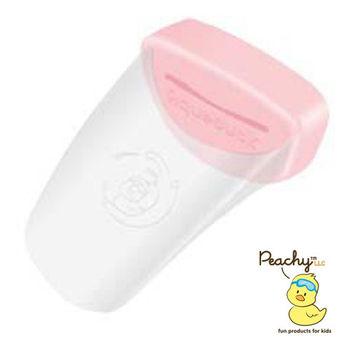 Aqueduck幼兒專用水龍頭延伸輔助器-透明粉