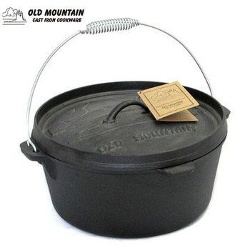 Old Mountain 美國鑄鐵鍋-CO鑄鐵鍋-凹蓋平底12