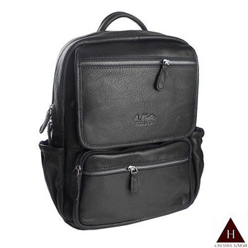 【H-CT】A.K中性多拉鍊層設計真皮後背包(AK8281-Z)