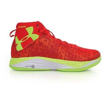 【UNDER ARMOUR】ANATOMIXNANOG 男籃球鞋 紅螢光綠