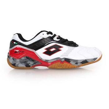 【LOTTO】男羽球鞋 -運動 防滑 排球 白黑紅