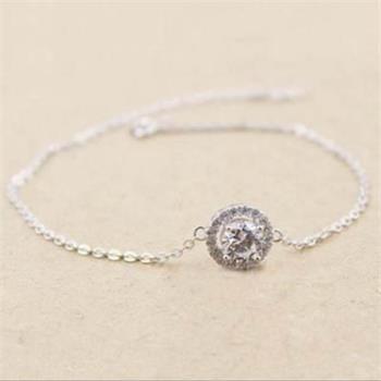 【米蘭精品】925純銀手鍊手環精緻氣質流行