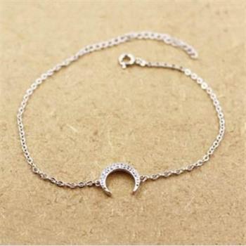 【米蘭精品】925純銀手鍊手環精緻流行月亮