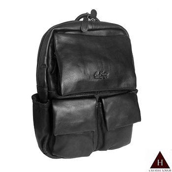 【H-CT】A.K百搭多袋設計真皮後背包(AK8280-Z)