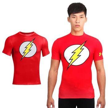 【UNDER ARMOUR】HG ALTEREGO FULLSUI 男短袖緊身衣 紅白  84%聚酯纖維16%彈性纖維