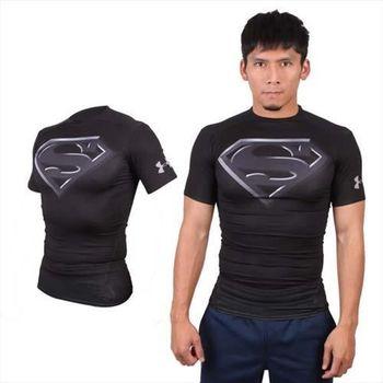 【UNDER ARMOUR】HG ALTEREGO FULLSUI 男短袖緊身衣 黑灰  84%聚酯纖維16%彈性纖維