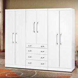 【時尚屋】[UZ6]福特純白8尺衣櫥UZ6-74-8