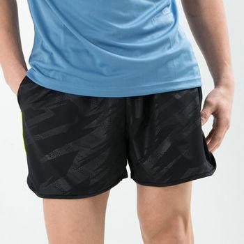 愛運動-男款 短褲 慢跑褲 飄飄褲 馬拉松褲 無內裡 超快速吸排 新色上市 黑色